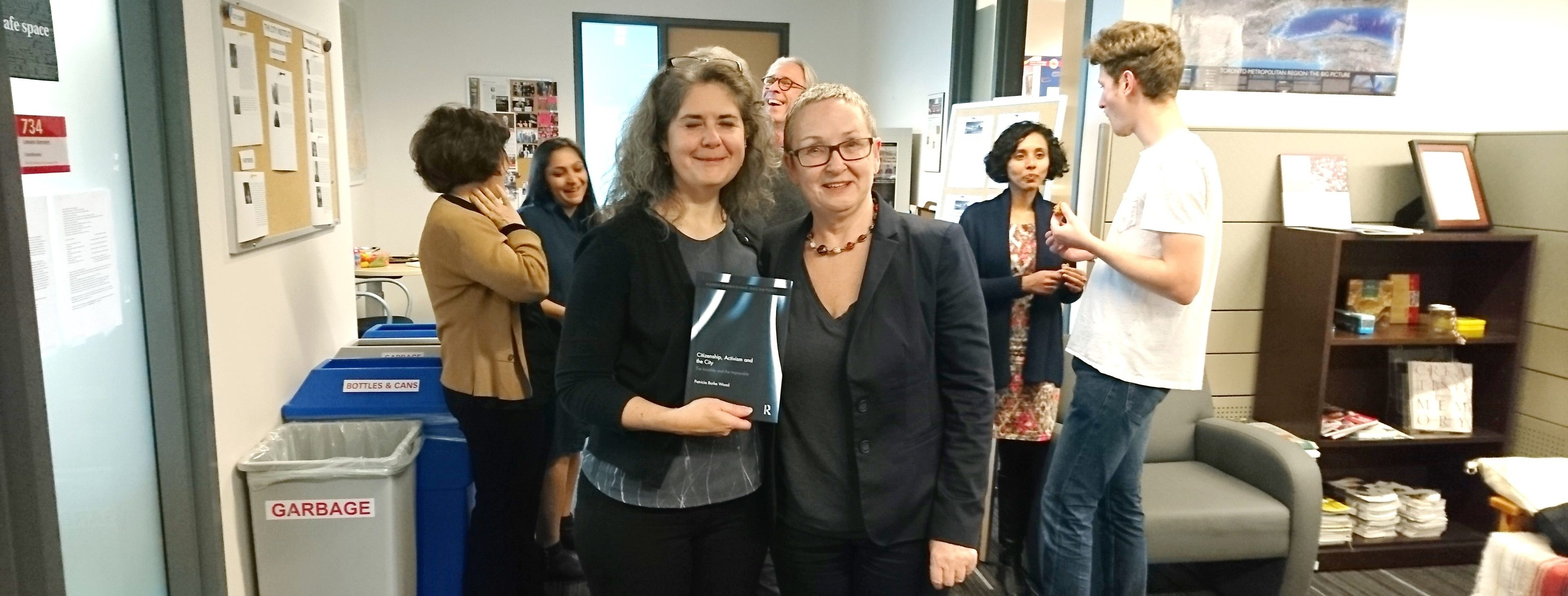 Linda Peake with Patricia Burke at CITY's 2017 Meet & Greet and Book Launch